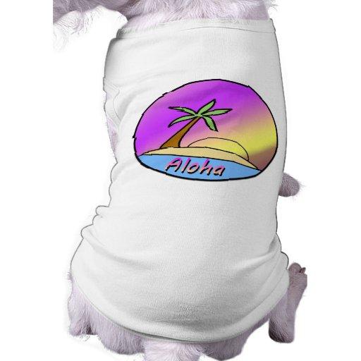 Isla de la hawaiana camisetas de mascota