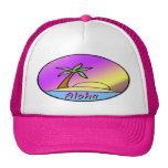 Isla de la hawaiana gorros bordados
