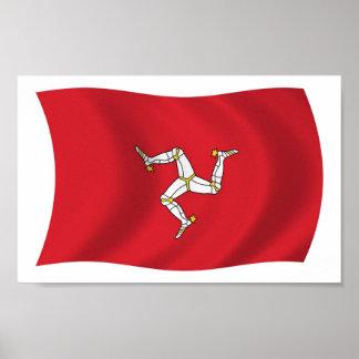 Isla de la impresión del poster de la bandera del