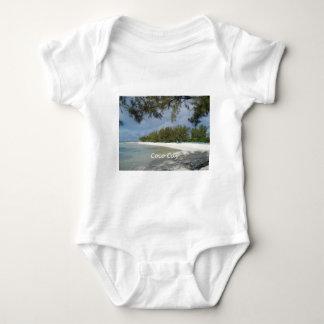 Isla de la isleta de los Cocos, Bahamas Body Para Bebé