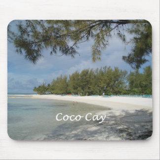 Isla de la isleta de los Cocos, Bahamas Alfombrillas De Raton