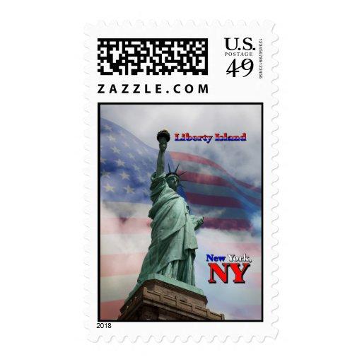 Isla de la libertad - Nueva York, NY Franqueo