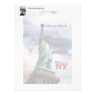 Isla de la libertad - Nueva York, NY Membrete Personalizado