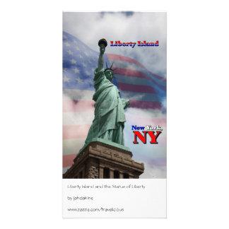 Isla de la libertad - Nueva York, NY Plantilla Para Tarjeta De Foto