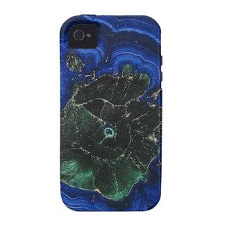 Isla de la malaquita del Azurite iPhone 4 Carcasa