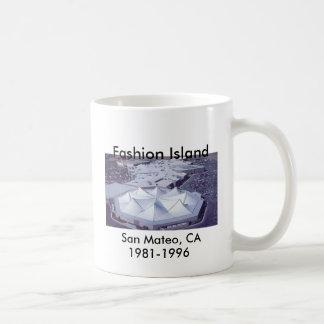 Isla de la moda, San Mateo, CA 1981-1996 Taza