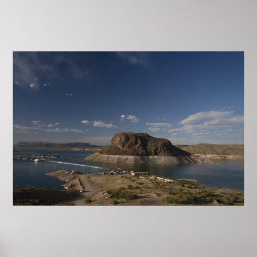 Isla de la mota del elefante - New México Poster