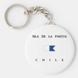 Isla de la Pascua Chile Alpha Dive Flag Keychains