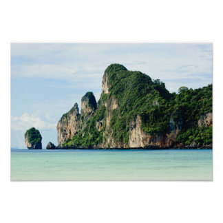 Isla de la phi de la phi de Ko en el mar de Andama Póster