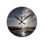 Isla de la playa del Wight Relojes De Pared