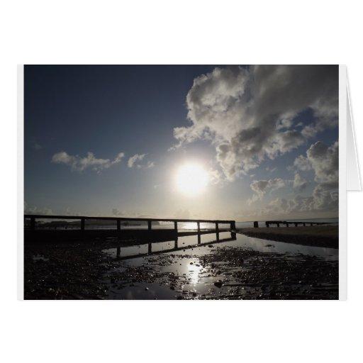 Isla de la playa del Wight Tarjeton