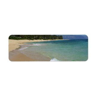 Isla de la playa etiquetas de remite