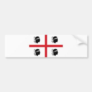 isla de la región de Italia de la bandera de Cerde Etiqueta De Parachoque