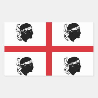isla de la región de Italia de la bandera de Pegatina Rectangular