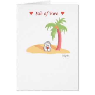 ISLA de la tarjeta del día de San Valentín de la O