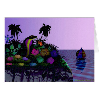 Isla de la tarjeta del Naja