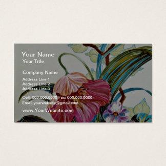 Isla de las flores del amarillo de la belleza tarjetas de visita