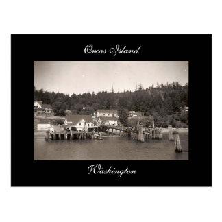 Isla de las orcas del vintage tarjetas postales