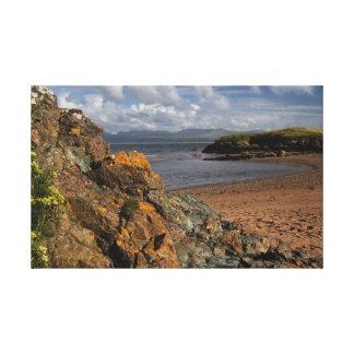 Isla de Llanddwyn, Anglesey Impresión En Lona Estirada