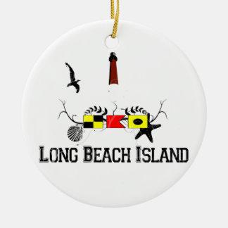 Isla de Long Beach Adorno Redondo De Cerámica