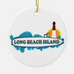 Isla de Long Beach Ornamento De Navidad