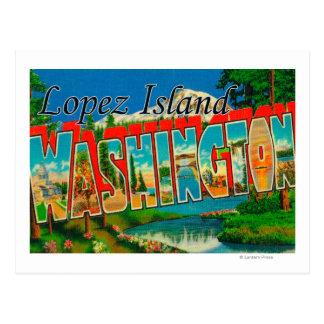Isla de López, Washington - escenas grandes de la Tarjeta Postal