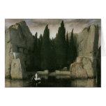 Isla de los muertos, Arnold 1883 Bocklin Tarjeton