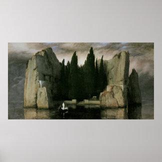Isla de los muertos de Arnold Bocklin, arte del Póster