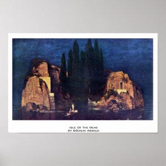 Isla de los muertos de Böcklin Arnold Poster