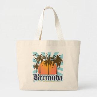 Isla de los recuerdos de Bermudas Bolsa Tela Grande