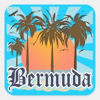 Isla de los recuerdos de Bermudas Calcomania Cuadradas