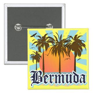 Isla de los recuerdos de Bermudas Pin Cuadrado
