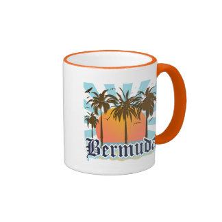 Isla de los recuerdos de Bermudas Tazas De Café