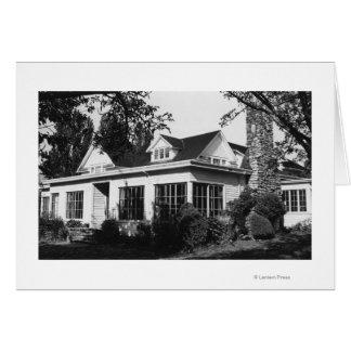 Isla de Lummi, WA - casa de campo Photograp de Log Tarjeta De Felicitación
