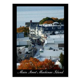 Isla de Mackinac de la calle principal - postal