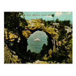 Isla de Mackinac de la roca del arco, Michigan 191 Tarjetas Postales