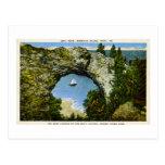 Isla de Mackinac de la roca del arco, Michigan Postal