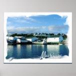 Isla de Mackinac del poster del transbordador