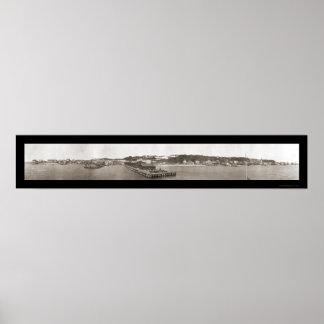 Isla de Mackinac, foto 1910 del MI Póster