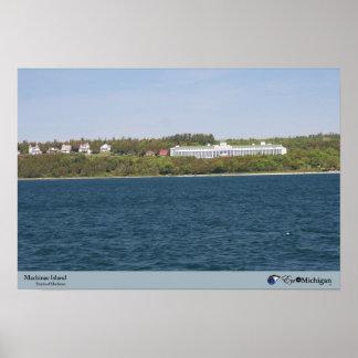 Isla de Mackinac, hotel magnífico Póster