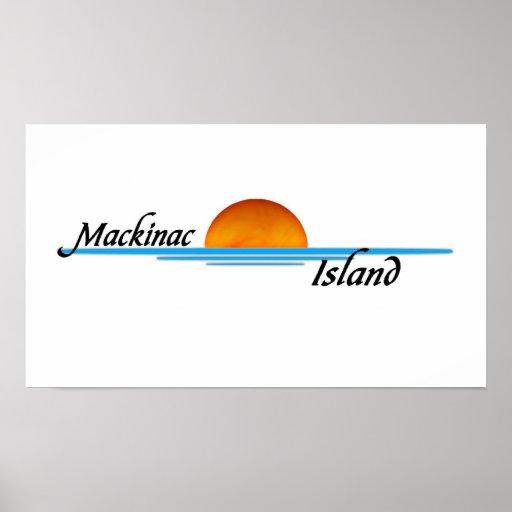 Isla de Mackinac Poster