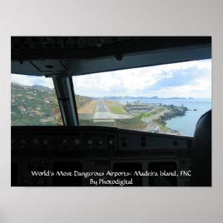 Isla de Madeira, los aeropuertos más peligrosos de Posters