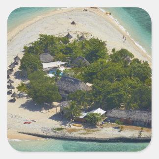 Isla de mar del sur, islas de Mamanuca, Fiji Pegatinas Cuadradas