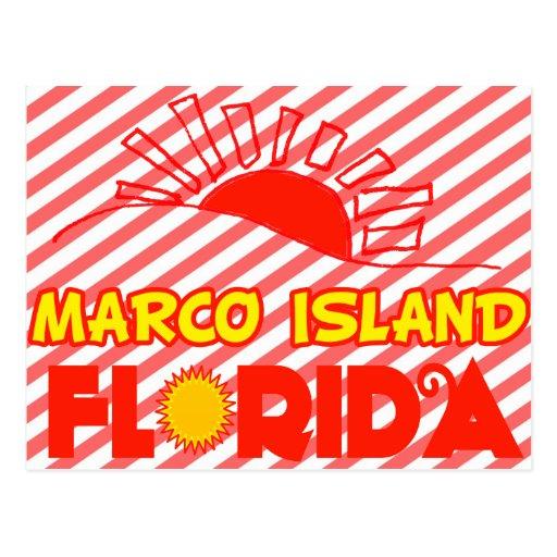 Isla de Marco, la Florida Tarjeta Postal