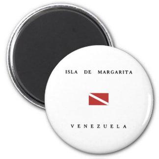 Isla De Margarita Venezuela Scuba Dive Flag 2 Inch Round Magnet
