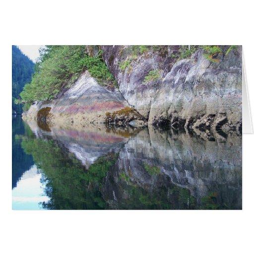 Isla de Mcdonald de las reflexiones 14 de la línea Tarjeta De Felicitación