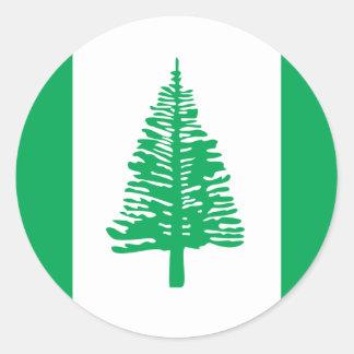 isla de Norfolk, Australia Pegatina Redonda