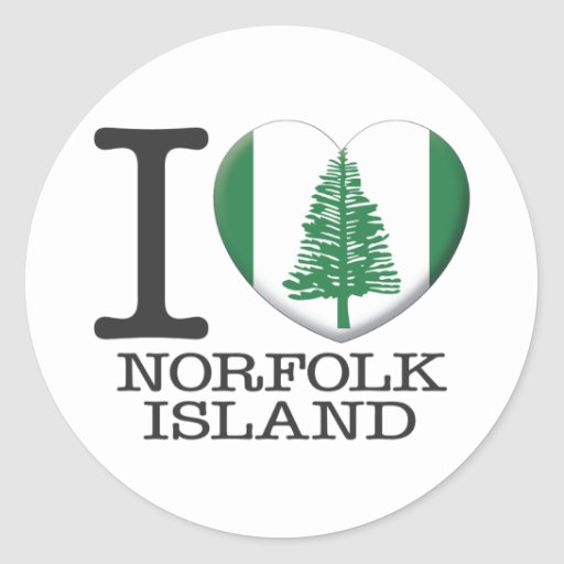 Isla de Norfolk Pegatina Redonda