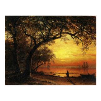Isla de nuevo Providence de Albert Bierstadt Tarjetas Postales