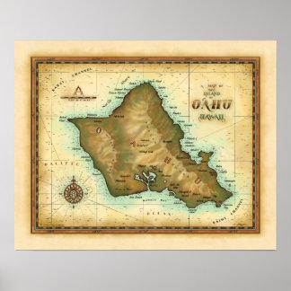 Isla de Oahu de Hawaii Posters